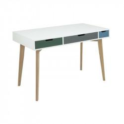 ACTONA biurko TESS białe - MDF, drewno jesion