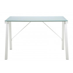 ACTONA biurko TYPHOON białe - blat szklany, metal