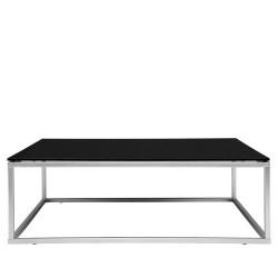 ACTONA stolik kawowy BRAN czarny - szkło, nikiel szczotkowany