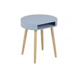ACTONA stolik kawowy ELA niebieski - nogi z drewna sosnowego