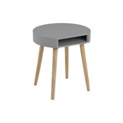 ACTONA stolik kawowy ELA szary - nogi z drewna sosnowego