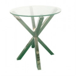 ACTONA stolik kawowy HEAVEN chrom - szkło, metal