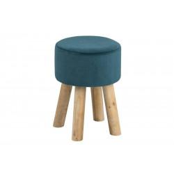 ACTONA stołek MAREN zielony - welur, nogi dębowe