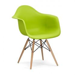 Fotel DAW soczysta zieleń.13 - polipropylen, podstawa bukowa