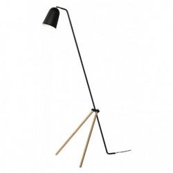 FRANDSEN lampa podłogowa GIRAFFE czarna - nogi dębowe