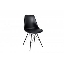 INVICTA Krzesło HUGO czarne - podstawa czarna