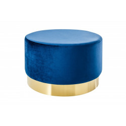 INVICTA Pufa BAROCK VELVET WIDE - niebieska, złota podstawa
