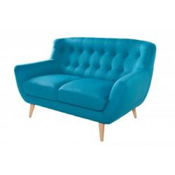 INVICTA Sofa 2 osobowa THICK - niebieska