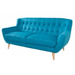 INVICTA Sofa 3 osobowa THICK - niebieska