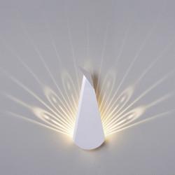 Kinkiet PAW biały - LED, stal węglowa