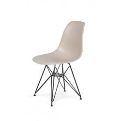 Krzesło DSR BLACK beżowe.18 - podstawa metalowa czarna