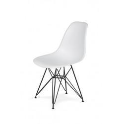Krzesło DSR BLACK białe.01 - podstawa metalowa czarna