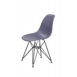 Krzesło DSR BLACK ciemny szary.04 - podstawa metalowa czarna