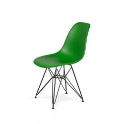 Krzesło DSR BLACK irlandzka zieleń.21 - podstawa metalowa czarna