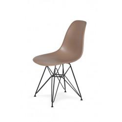 Krzesło DSR BLACK kawa mocca.35 - podstawa metalowa czarna