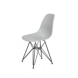 Krzesło DSR BLACK platynowy.28 - podstawa metalowa czarna