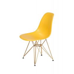 Krzesło DSR GOLD kanarkowy.30 - podstawa metalowa złota