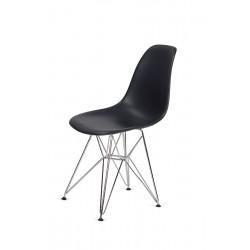 Krzesło DSR SILVER antracytowy.39 - podstawa metalowa chromowana