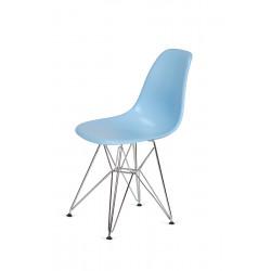 Krzesło DSR SILVER błękitny.11 - podstawa metalowa chromowana