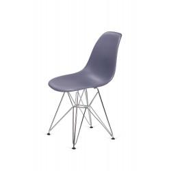 Krzesło DSR SILVER ciemny szary.04 - podstawa metalowa chromowana