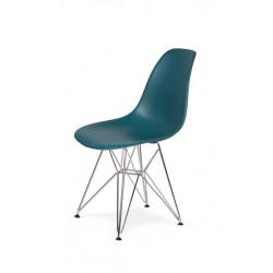 Krzesło DSR SILVER marynarski niebieski .23 - podstawa metalowa chromowana