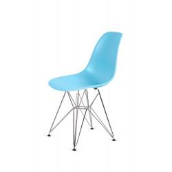 Krzesło DSR SILVER oceaniczny niebieski .25 - podstawa metalowa chromowana