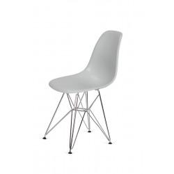 Krzesło DSR SILVER platynowy.28 - podstawa metalowa chromowana