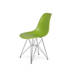 Krzesło DSR SILVER soczysta zieleń.13 - podstawa metalowa chromowana
