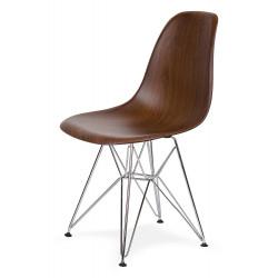 Krzesło DSR WOOD imitacja drewna - ABS, podstawa chromowana