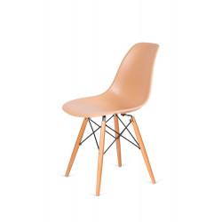 Krzesło DSW WOOD ciepły kremowy.32 - podstawa drewniana bukowa