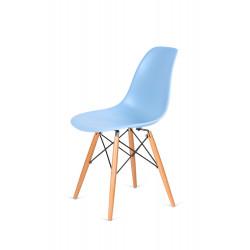 Krzesło DSW WOOD jasny niebieski.12 - podstawa drewniana bukowa