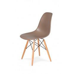 Krzesło DSW WOOD kawa mocca.35 - podstawa drewniana bukowa