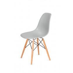 Krzesło DSW WOOD platynowy.28 - ABS, podstawa bukowa