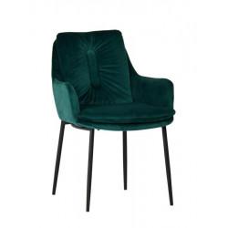 Krzesło GRANT zielone - welur, podstawa czarno-złota
