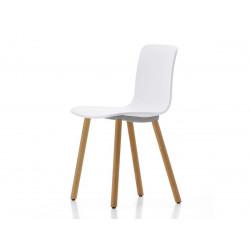 Krzesło HOLY WOOD białe - polipropylen, nogi bukowe