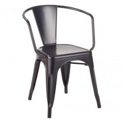 Krzesło TOWER ARM czarne - metal