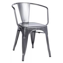 Krzesło TOWER ARM metaliczne - metal