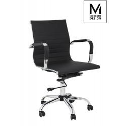 MODESTO fotel biurowy ERGO czarny - ekoskóra, chrom