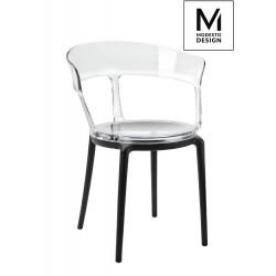 MODESTO fotel ERO transparentny - poliwęglan, nogi polipropylen