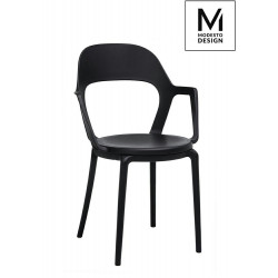 MODESTO krzesło FORM ARM czarne - polipropylen
