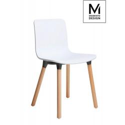 MODESTO krzesło HOLY WOOD białe - polipropylen, nogi bukowe