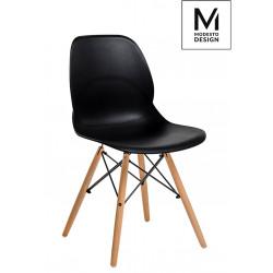 MODESTO krzesło LEAF WOOD czarne - polipropylen, podstawa bukowa