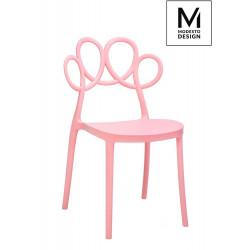 MODESTO krzesło LOOPY różowe - polipropylen