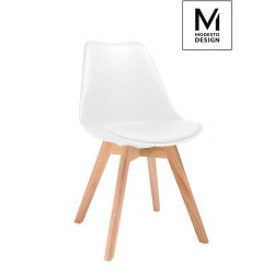 MODESTO krzesło NORDIC białe - podstawa bukowa