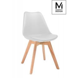 MODESTO krzesło NORDIC jasne szare - podstawa bukowa
