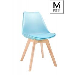 MODESTO krzesło NORDIC niebieskie - podstawa bukowa