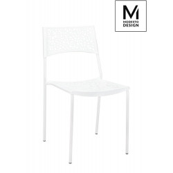 MODESTO krzesło PAX białe - polipropylen, metal