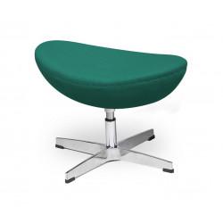 Podnóżek EGG CLASSIC szmaragdowy zielony.41 - wełna, podstawa aluminiowa