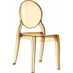 SIESTA Krzesło ELIZABETH bursztynowe - poliwęglan