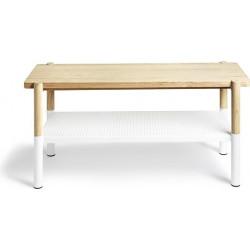 UMBRA ławka PROMENADE biała - drewno, metal